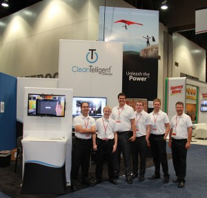 CleanTelligent Software's booth at ISSA/INTERCLEAN 2013