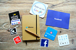 Social media and other marketing materials