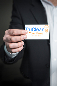 Business cards help market your cleaning business