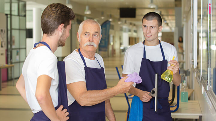 The key to improving employee retention in the janitorial industry is mentorship and training.